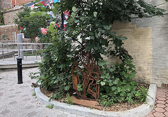 Mill Street Courtyard Artist: Haifa Bint-Kadi
